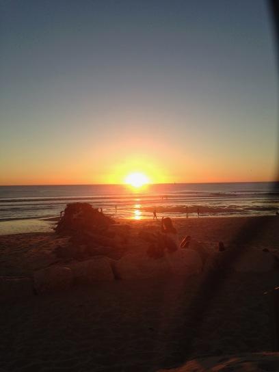 sunset on the ocean / coucher de soleil sur l'Atlantique