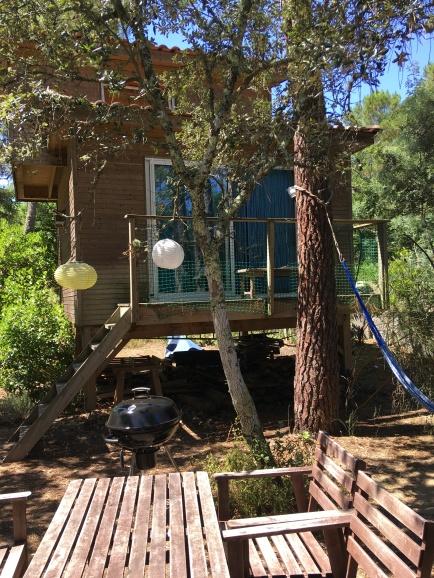 the Tiny House's patio / la terrasse du Tiny House
